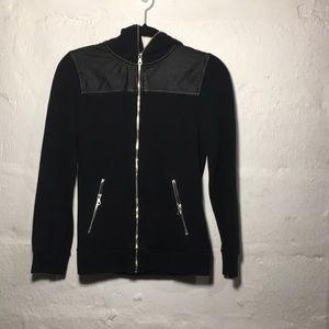 H&M Black Zipper Hoodie Jacket